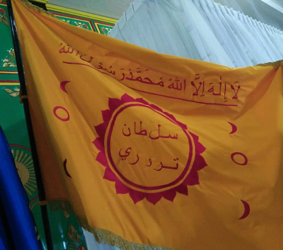 Bendera Kasultanan: Kalimat Tauhid Sultan Tidore. Dok: Ida Fitri