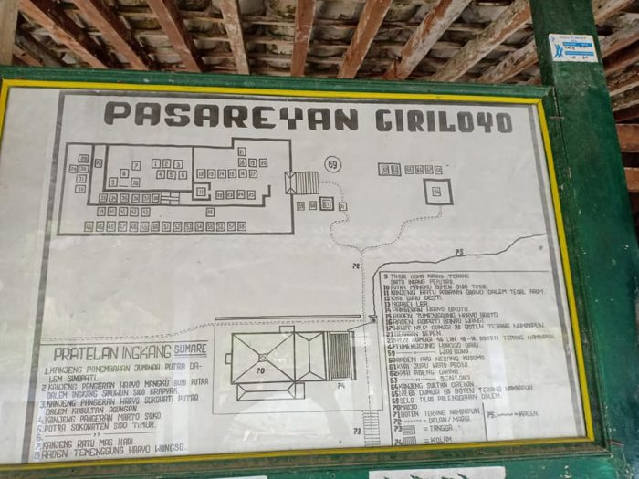Peta Makam Girilaya, Yogyakarta. Dok: Herman Sinung Janutama